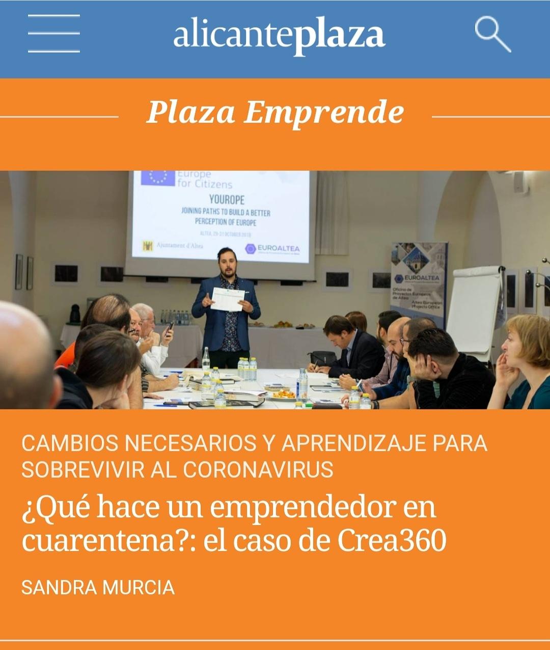 ¿Qué hace un emprendedor en cuarentena?: el caso de Crea360